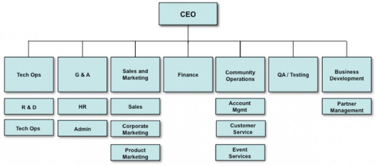 Estructura organizativa funcional (tradicional)