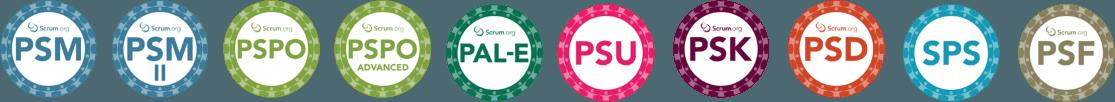 Logos cursos Scrum.org