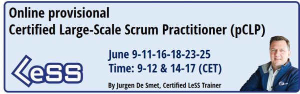 Banner Provisional Certified Large-Scale Scrum (LeSS) Practitioner - Online
